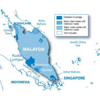 Сингапур и Малайзия NT 2018.40 - карта для навигаторов GARMIN
