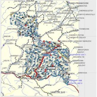 Карта для Garmin - Украина. Карпаты. Топография.  v.1.08