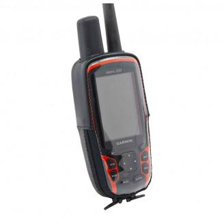Чехол для навигатора Garmin Astro 320 с окном под зарядку (натуральная кожа)