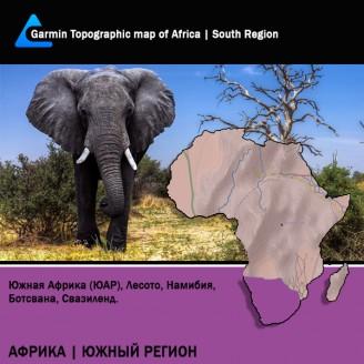 Африка Южный Регион Топография для Garmin