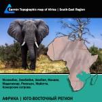 Африка Юго-Восточный Регион Топография для Garmin