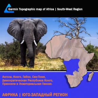 Африка Юго-Западный Регион Топография для Garmin