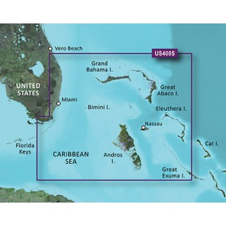 Багамы Флорида от Уолкерс Кей  до Эксума 2016.50 (18.00) VUS400S BlueChart G2 Vision