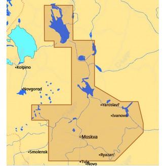 C-MAP MAX-N Москва, Ока, Волга и Онежское озеро для Lowrance (RS-N219 WIDE)