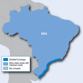 Бразилия 2016.20 - карта для навигаторов GARMIN