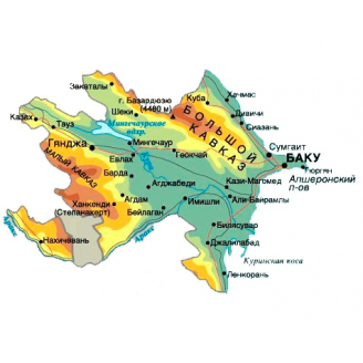 Garmin - Азербайджан 2017 - карта для навигаторов GARMIN