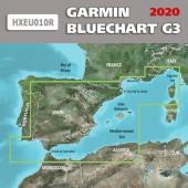 Средиземное море Гибралтар - Корсика Garmin BlueChart G3 2020.5 (22.00) карта глубин HXEU010R