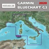 Средиземное море - Центральная часть BlueChart G3 2020.5 (22.00) карта глубин HXEU012R