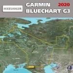 Карта глубин Россия для Garmin HEU062R  Внутренние водные пути России 2019.0 (20.50) microSD