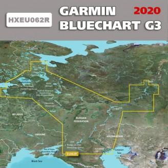 Карта глубин Западная часть России для туристических навигаторов BlueChart G3 2019.0 (20.50) HEU062R