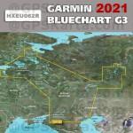 Карта глубин Россия для Garmin HEU062R  Внутренние водные пути России 2021 (22.50)