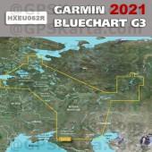 Карта глубин Западная часть России для туристических навигаторов 2021 (22.50) HEU062R