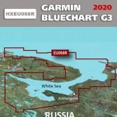Белое море, Баренцево море Garmin BlueChart G3 карта глубин HXEU068R