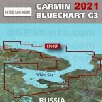 Белое море, Баренцево море Garmin BlueChart G3 карта глубин HXEU068R 2021 (22.50)