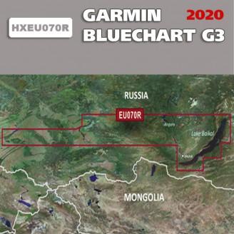 Карта глубин Байкал, Красноярское, Новосибирское вдхр. BlueChart G3 2020.5 (22.00) HXEU070R