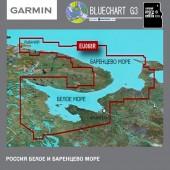 Белое море, Баренцево море Garmin BlueChart G3 карта глубин HXEU068R 2021.5 (23.00) microSD