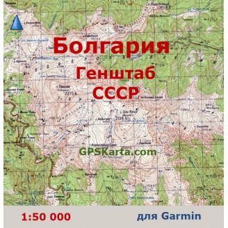 Топографическая карта Болгарии для Garmin (IMG)