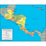Центральная Америка - карта для навигаторов GARMIN