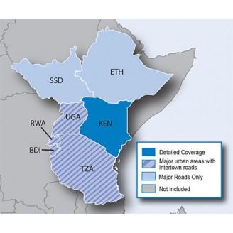 Восточная Африка NT 2017.10 - карта для навигаторов GARMIN