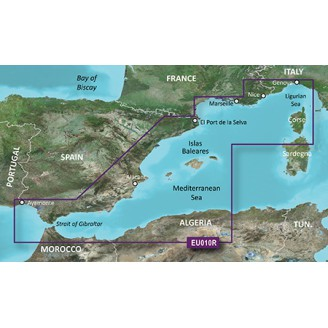 BlueChart g2 Vision - VEU010R - Mediterranean Sea, Genova-Ayamonte 2015.0 (16.50) Средиземное море, Генуя-Аймонте