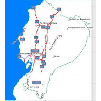 Эквадор 2018 - карта для навигаторов GARMIN