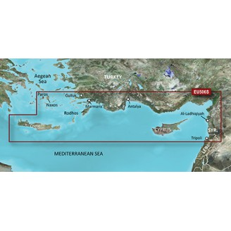 BlueChart g2 Vision VEU506S Crete Cyprus (15.50) Крит - Кипр