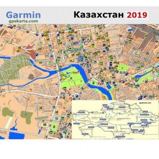 Казахстана 2019 - карта для навигаторов GARMIN
