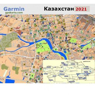 Казахстана 2021 - карта для навигаторов GARMIN