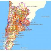 Аргентина, Чили и Уругвай 9.60  - карта для навигаторов GARMIN