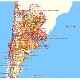 Аргентина, Боливия, Парагвай, Чили и Уругвай 13.1 2017  - карта для навигаторов GARMIN