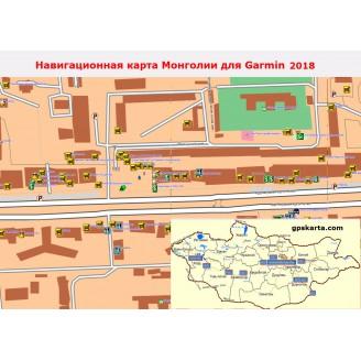 Монголии 2017 - карта для навигаторов GARMIN