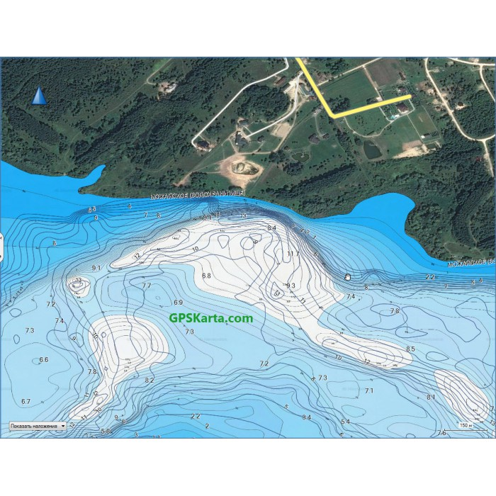 карта рельефа дна рыбинского водохранилища