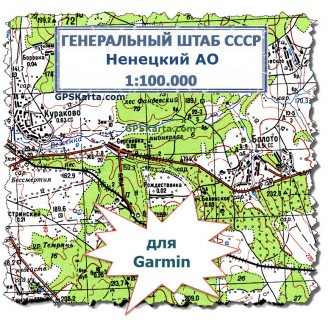 Топографическая карта Ненецкого АО для Garmin (IMG)