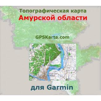 Топографическая карта Амурской области для Garmin