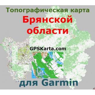 Топографическая карта Брянской области v2.5 для Garmin (IMG)