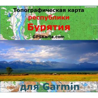 Топографическая карта республики Бурятия для Garmin (IMG)