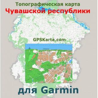Топографическая карта Чувашской республики для Garmin (IMG)