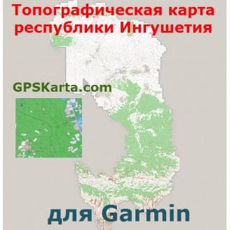 Топографическая карта республики Ингушетия для Garmin (IMG)