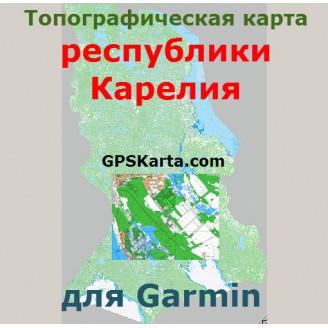 Топографическая карта республики Карелия v2.5 для Garmin (IMG)