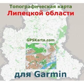 Топографическая карта Липецкой области для Garmin (IMG)