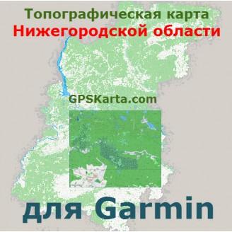 Топографическая карта Нижегородской области для Garmin (IMG)