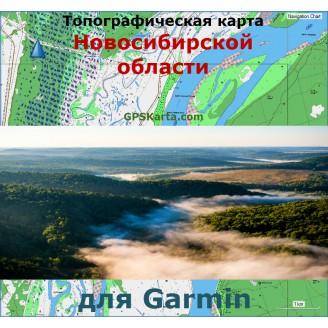 Топографическая карта Новосибирской области v2.0 для Garmin (IMG)