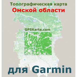Топографическая карта Омской области для Garmin (IMG)