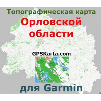Топографическая карта Орловской области для Garmin (IMG)