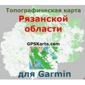 Рязанская область топографическая карта для Garmin v2.0 (IMG)