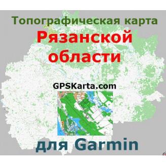 Топографическая карта Рязанской области для Garmin (IMG)