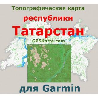 Топографическая карта республики Татарстан для Garmin (IMG)