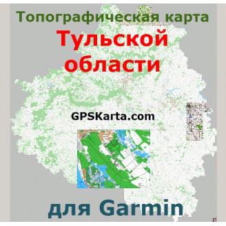Топографическая карта Тульской области для Garmin (IMG)