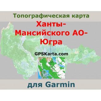 Топографическая карта Ханты-Мансийского АО-Югра для Garmin (IMG)