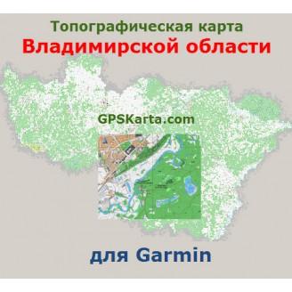 Топографическая карта Владимирской области v2.5 для Garmin (IMG)